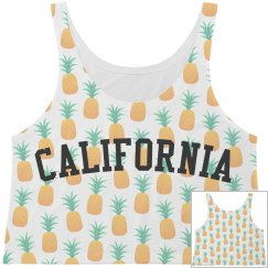 California White Pineapple Print