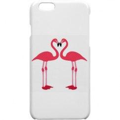 Pink Love Flamingos iphone