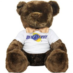 Blu Jacket Logo Large Teddy Bear