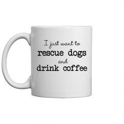 Coffee and dogs mug