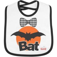 Infant Halloween bat bib