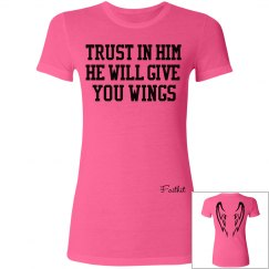 He will give you wings