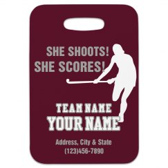 Field Hockey Bag Tag