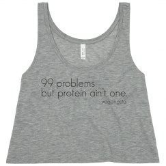 99 problems crop tank top