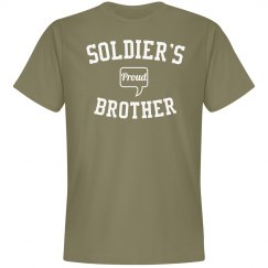 Proud soldier's brother