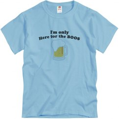 Halloween Here for Boos beer blue