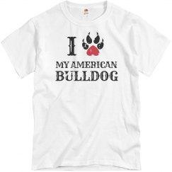 Love my american Bulldog