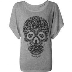 Sugar Skull Flowy Shirt