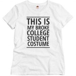 Broke College Student Costume
