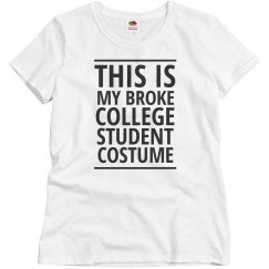 Broke College Student Costume