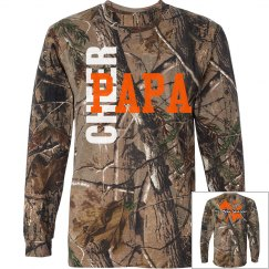 Cheer PaPa Long Sleeve Camo T