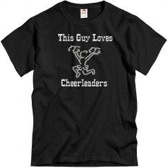 Guy loves cheerleaders