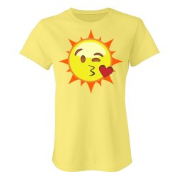 Flirty Sun Emoji T-Shirt