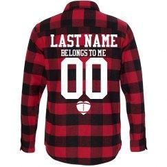 Custom Football Girlfriend Fall Fashion Flannel Shirts