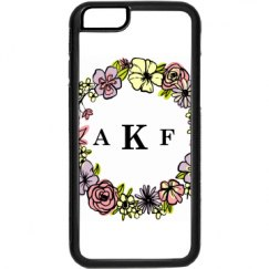 floral iphone 6 monogrammed case