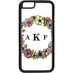 floral iphone 6 monogrammed case