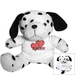 Red Hearts Plush Dog