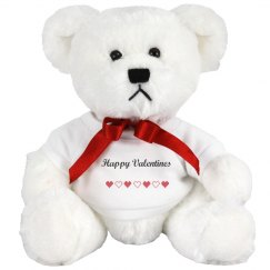 Happy valentines teddy bear