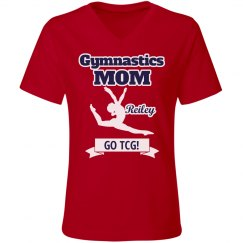 Gym Mom Relaxed Red