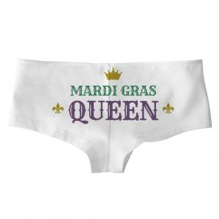 Simple Mardi Gras Queen White