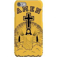 Amen Cross iPhone Case