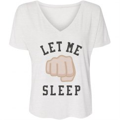 Let Me Sleep Emoji Tee