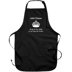 King of the BBQ apron