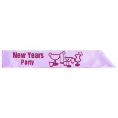 New Year Party Sashes