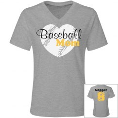 JR Fit Tee- Baseball Mom