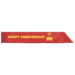 Happy Anniversary Sash