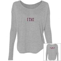 Long sleeve..flowy...cute... TRI shirt