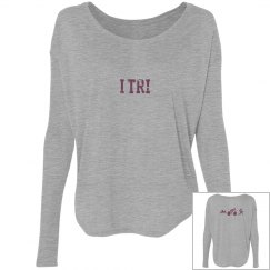 Long sleeve..flowy...cute... TRI shirt