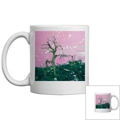 Tree skeleton pink green