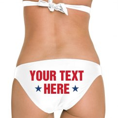Your Text Here 4th Of July Swimwear