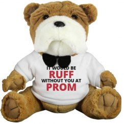 It Would Be Ruff Promposal Dog