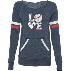 Love Baseball distressed