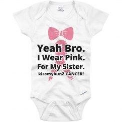 Kids breast cancer onesie