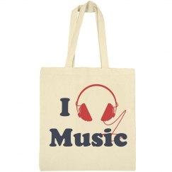 I Love Music Tote