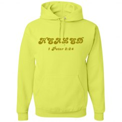 HEALED - Ladies Hoodie - 1 Peter 2:24