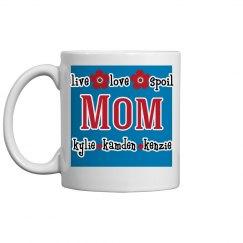 Personalized Mom Coffee Mug