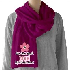 Mom personalized scarf