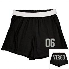 Virgo Sporty Zodiac Cheer Shorts