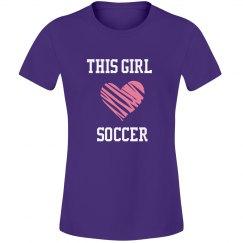 This girl loves soccer