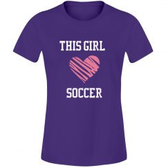 This girl loves soccer