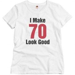 I make 70 look good