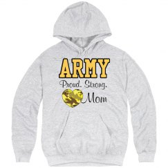 Army Strong Mom Hoodie