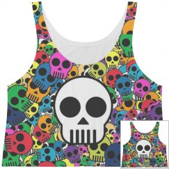 Cute Skull Crop Top