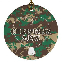 Army Dogtags Ornament