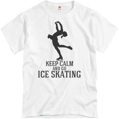 keep calm-go ice skating