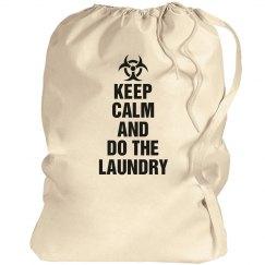 Keep calm laundry bag